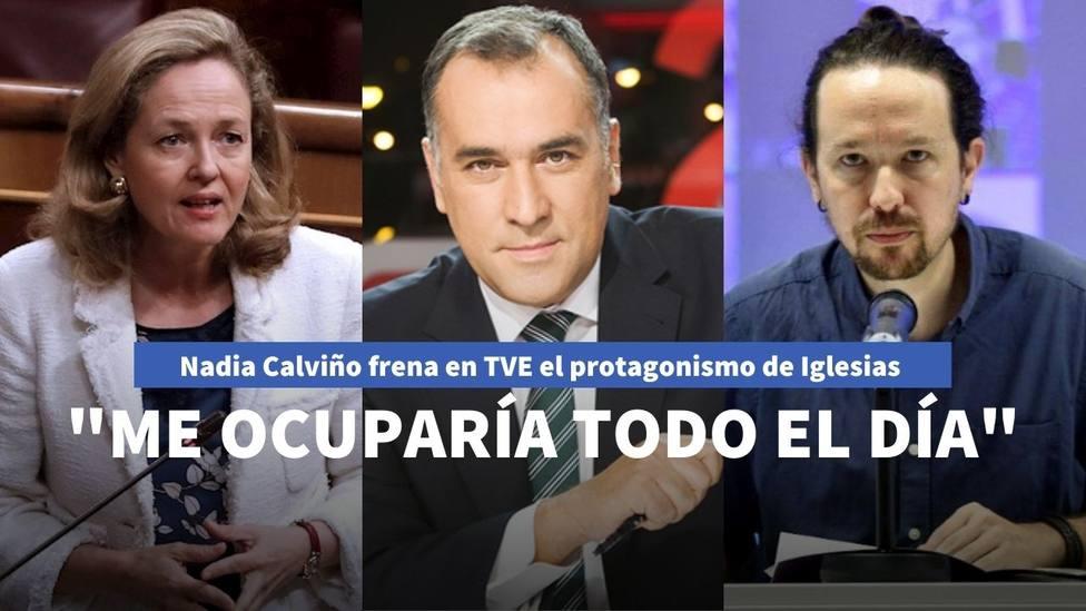 El comentario de Nadia Calviño sobre Pablo Iglesias en TVE que desmonta su afán de protagonismo