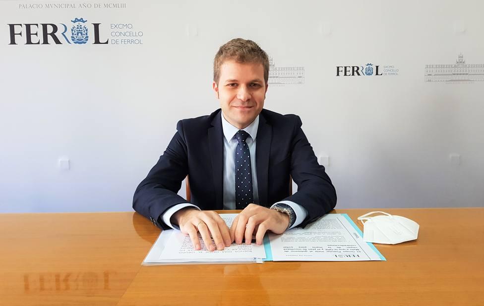 El concejal del Grupo Popular de Ferrol Javier Díaz. FOTO: PP Ferrol
