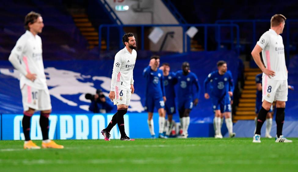 El Chelsea celebra el 2-0 al Real Madrid (EFE)