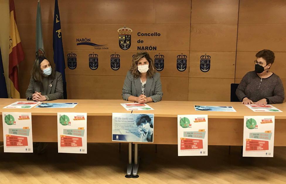 Presentación de los actos das Letras Galegas en Narón. FOTO: Concello de Narón