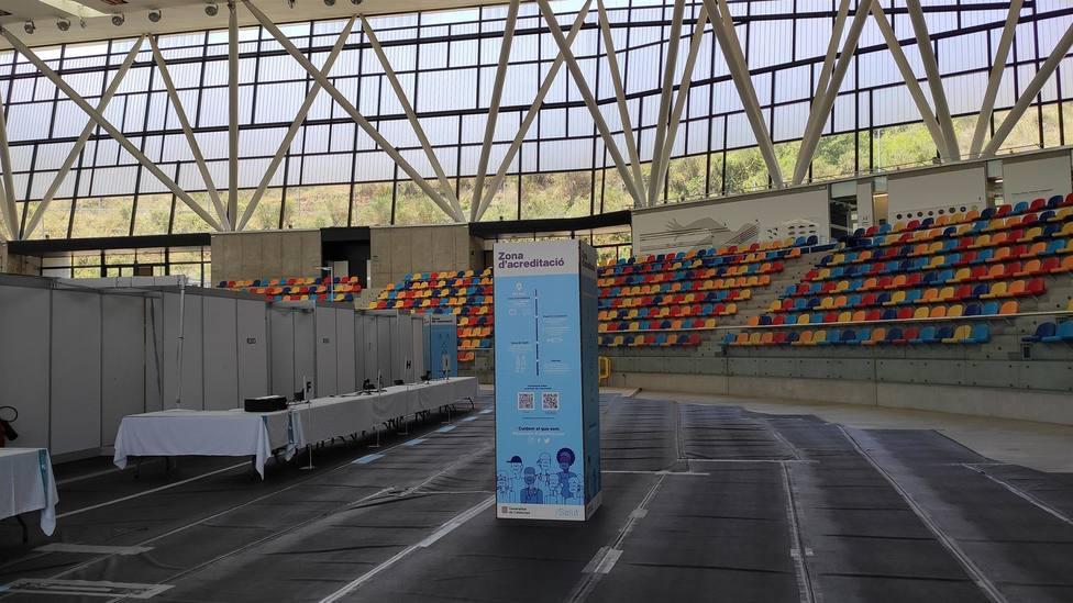 La Pista Cubierta de atletismo de Sabadell, punto de vacunación masiva