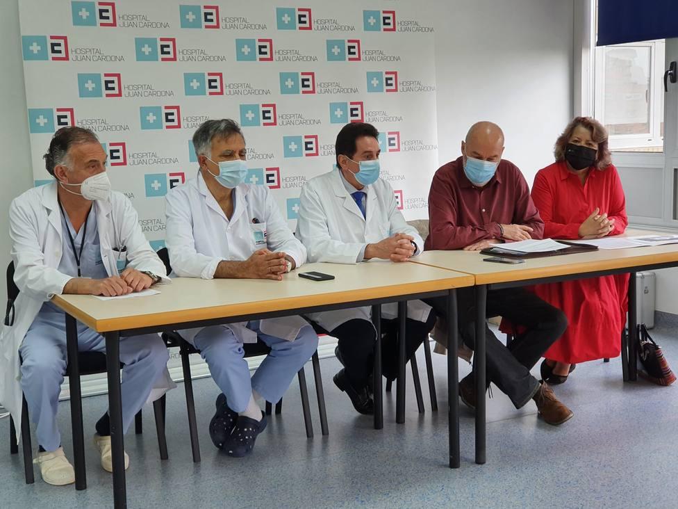 Rueda de prensa ofrecida en el Hospital Juan Cardona con motivo del Día Nacional del Donante de Órganos