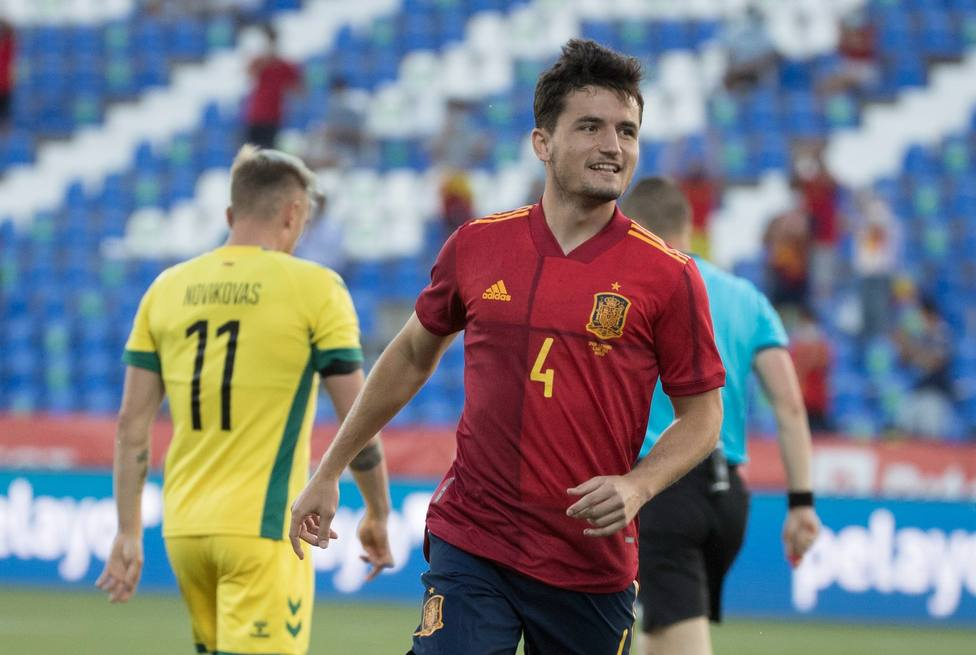 El valencianista al marcar su gol