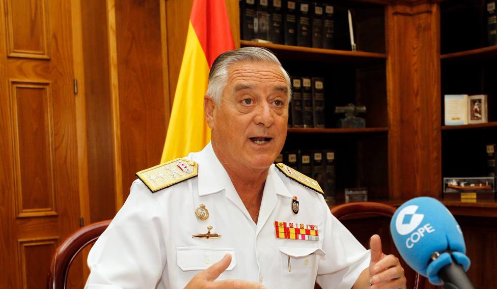 Foto de archivo de Antonio Duelo Menor, que cesa como almirante del Arsenal - FOTO: EFE / Kiko Delgado