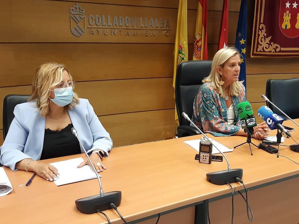 La edil de Hacienda, Yolanda Martínez y la alcaldesa, Mariola Vargas
