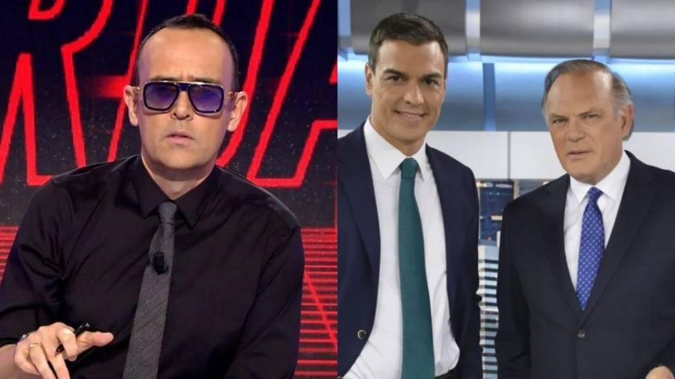 Risto Mejide, Pedro Sánchez y Piqueras