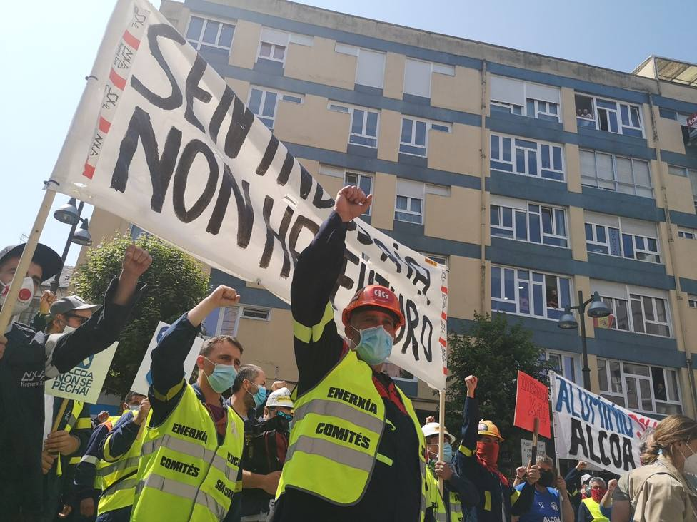Protesta de los trabajadores de Alcoa en Lugo
