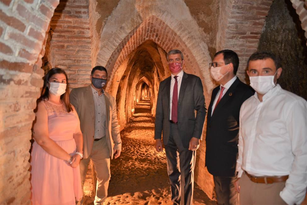 Álvaro Gutiérrez y Alfonso Arriero en la inauguración del Museo del Vino en Méntrida