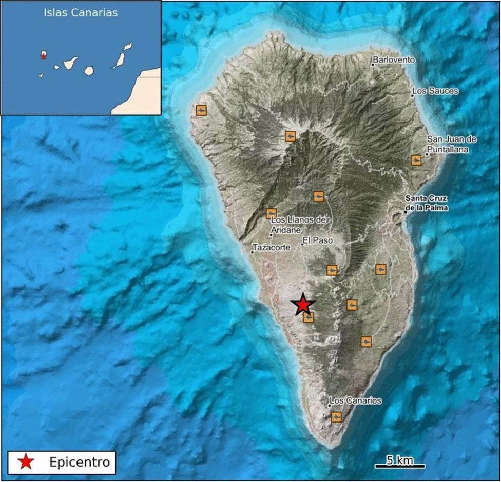 La Palma registra un terremoto de 3,5 grados al sur de El Paso