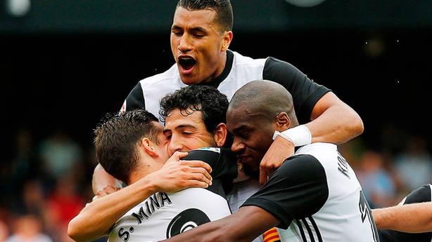 El Valencia celebra un gol en Mestalla (IMAGEN: Valencia CF)