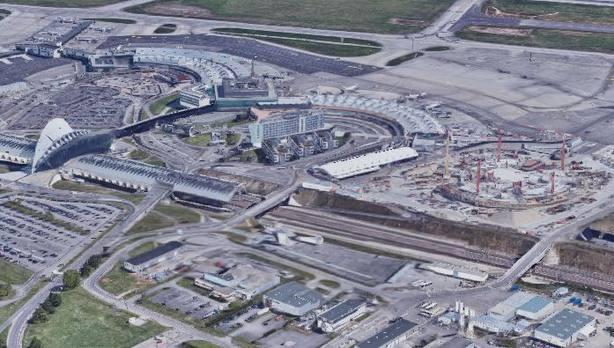 El aeropuerto de Saint-Exupéry de Lyon. Google Maps