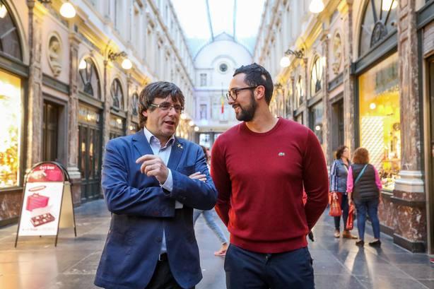 Carles Puigdemont y Valtonyc charlando