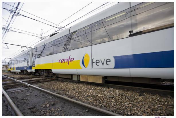 Tren de Feve circulando