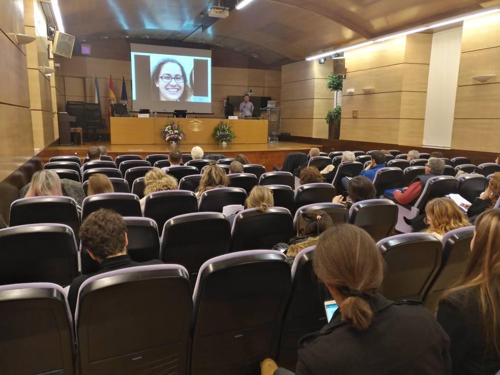 Una de las conferencias de estas jornadas en el Salón de Actos Concepción Arenal