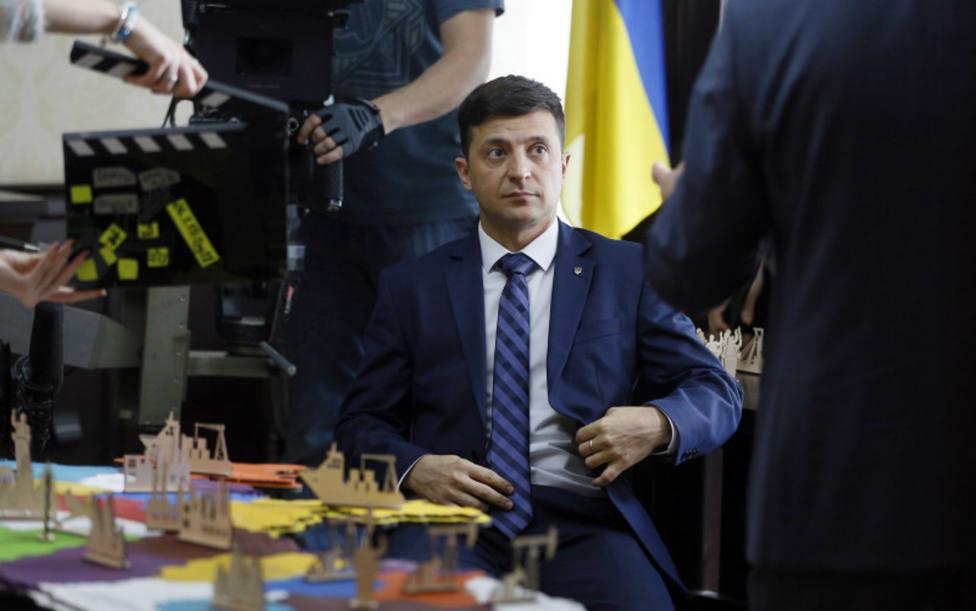 Zelinski, de presidente televisivo a presidente de Ucrania