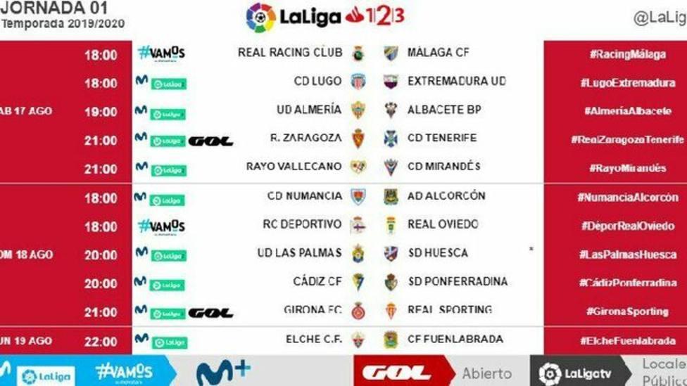 El Málaga debutará el sábado 17 de agosto a las 18 horas en Santander