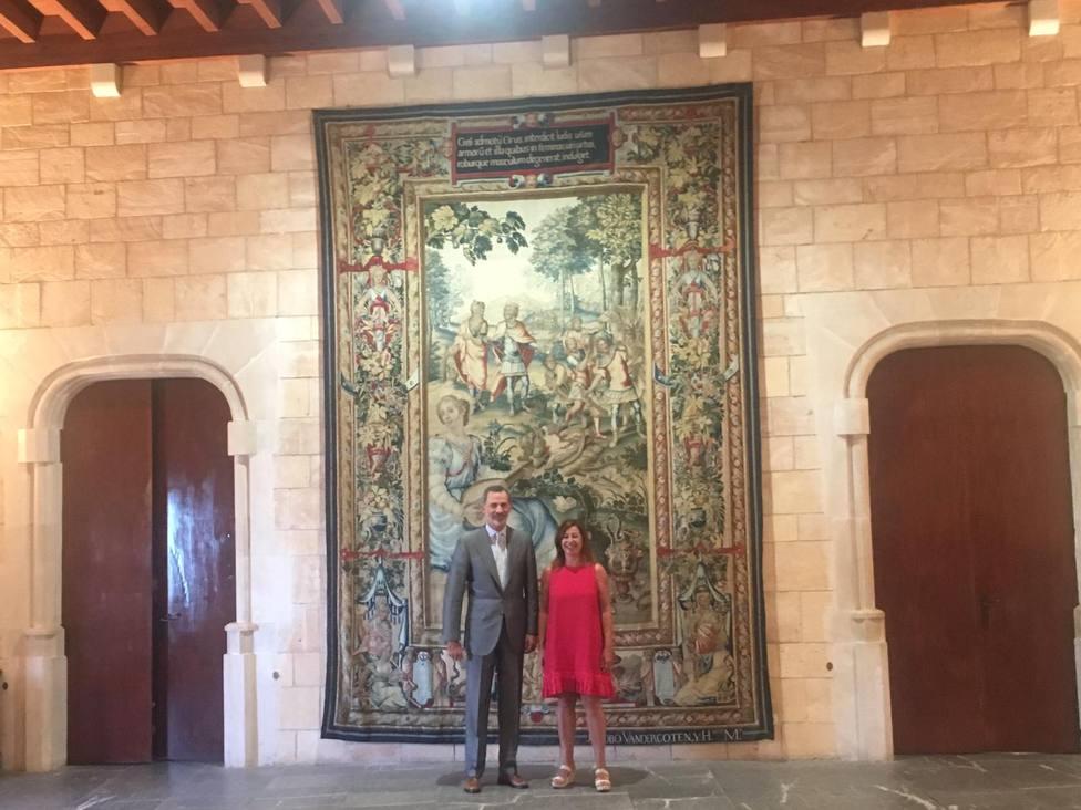 El Rey Felipe VI recibe en audiencia a las autoridades de Balears