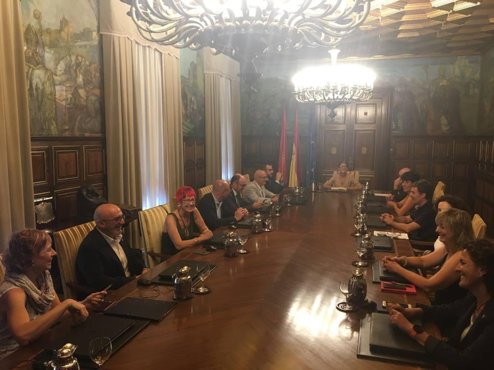Primera reunión de los nuevos consejeros del Gobierno de Navarra