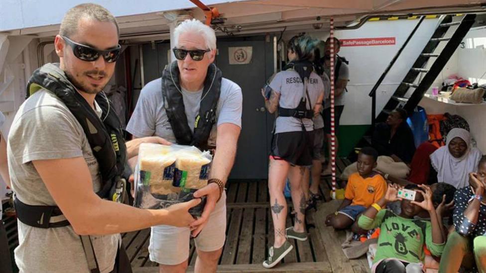 Richard Gere en el barco de Open Arms