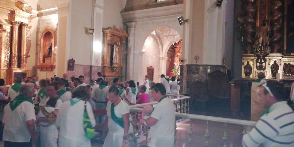 Los niños se presentan ante San Lorenzo