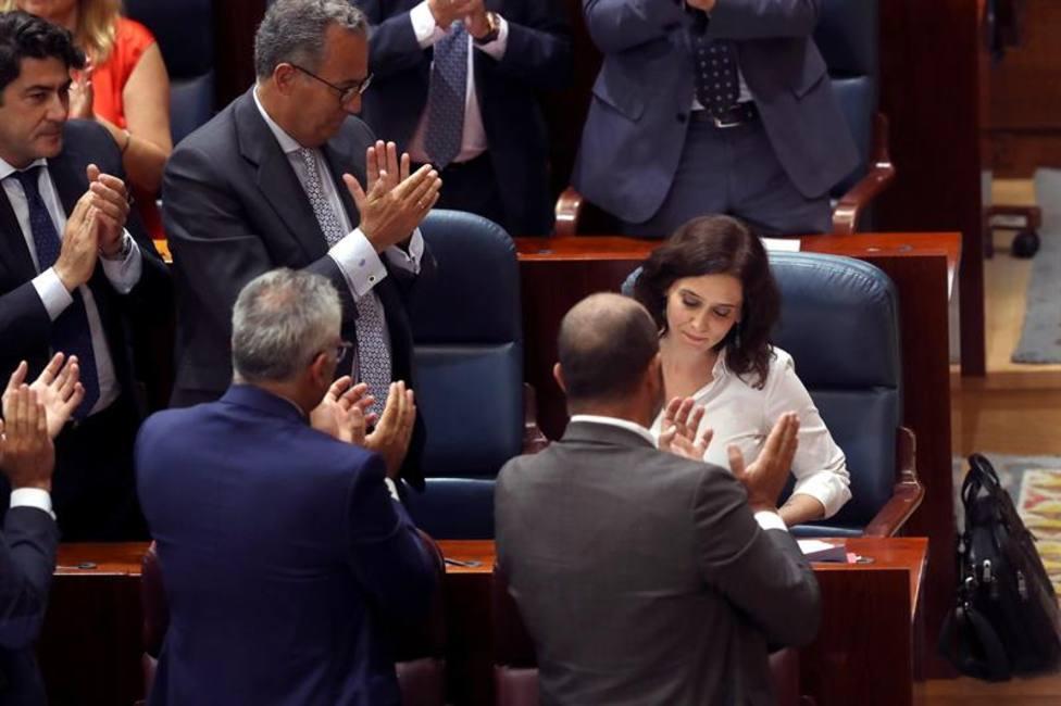 Díaz Ayuso investida como presidenta de la Comunidad de Madrid