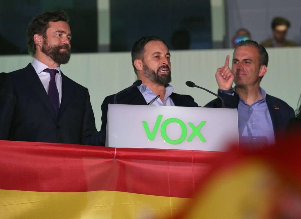 Sede de Vox en la noche electoral
