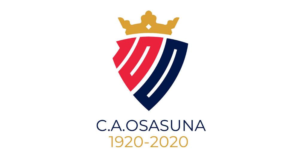Logotipo del centenario de Osasuna