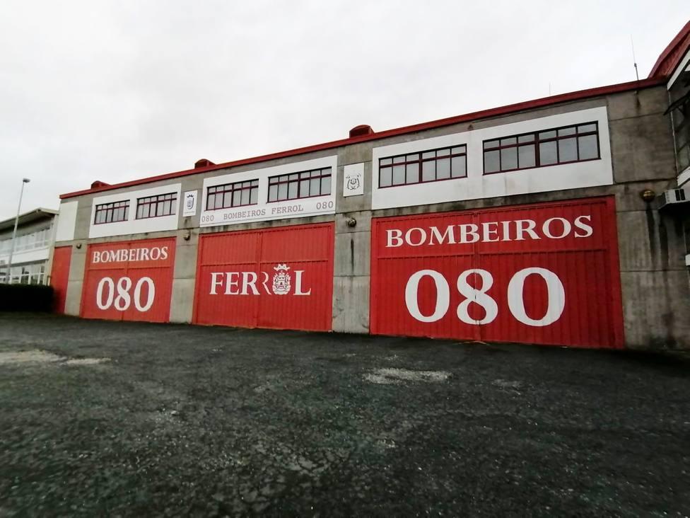 Parque de Bomberos de Ferrol ubicado en el polígono de la Gándara