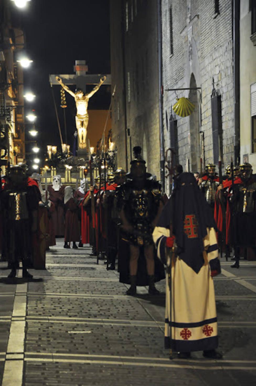 El Cristo Alzado hará hoy su tradicional traslado hasta la Catedral de Pamplona