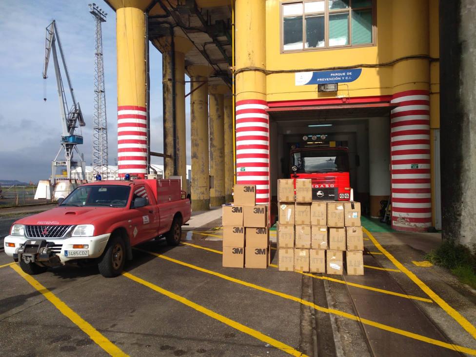 Material preparado en el astillero de Fene para su entrega - FOTO: Navantia