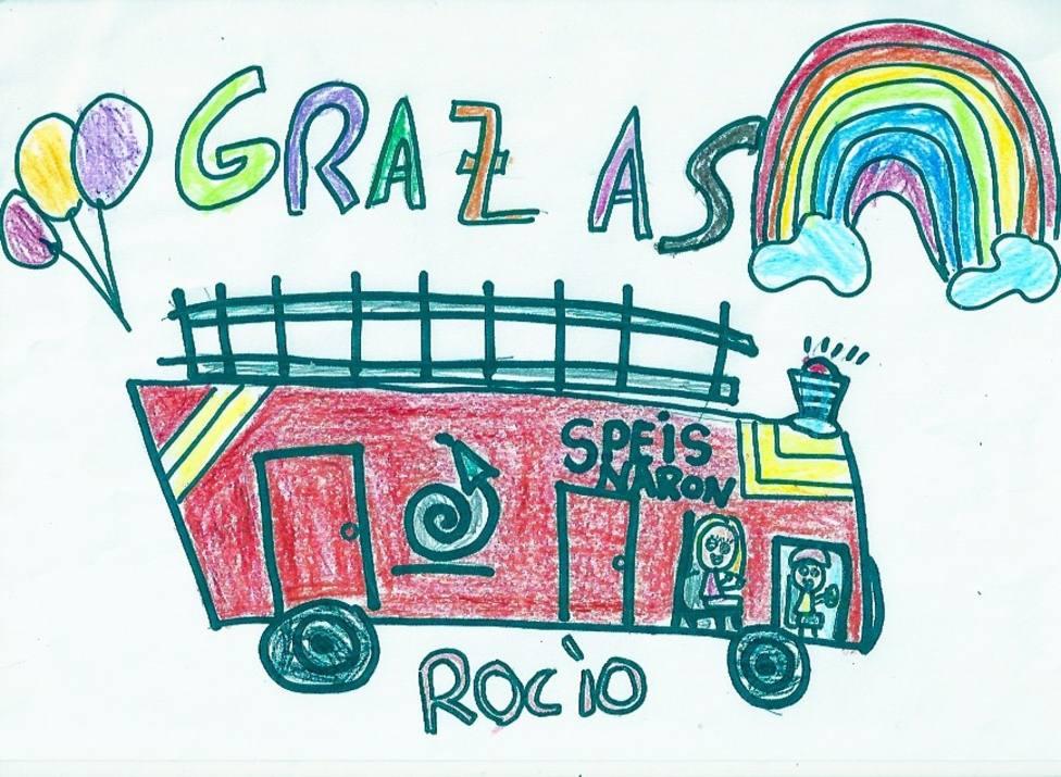 Uno de los dibujos enviados por los niños de Narón - FOTO: Concello de Narón
