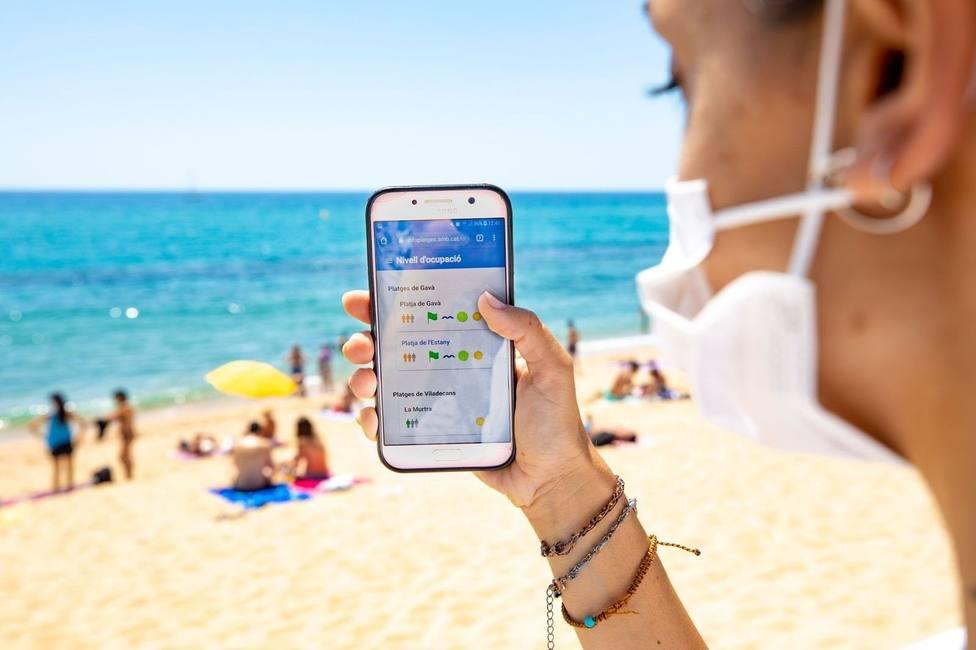 El AMB muestra en tiempo real la ocupación de las playas metropolitanas