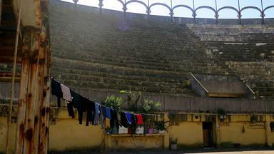 Estado actual de la plaza de toros de Tánger (Marruecos)