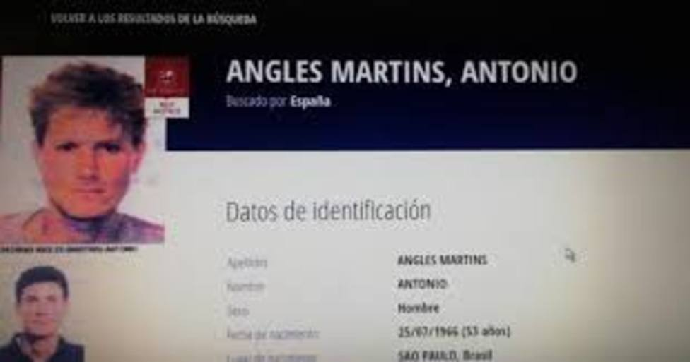 Ficha policial de Antonio Anglés