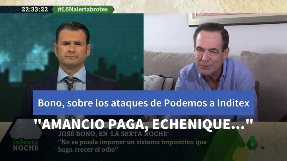 """José Bono desmonta los ataques de Podemos a Inditex: """"Amancio paga la seguridad social, y Echenique…"""""""