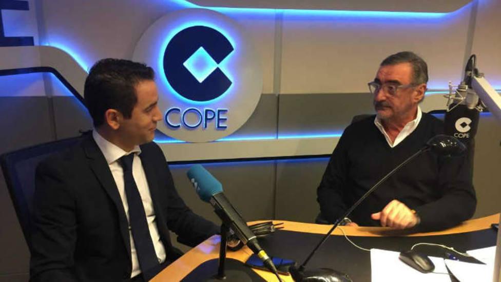 Herrera entrevista a Teodoro García Egea este viernes en COPE, tras el no a la moción de Vox