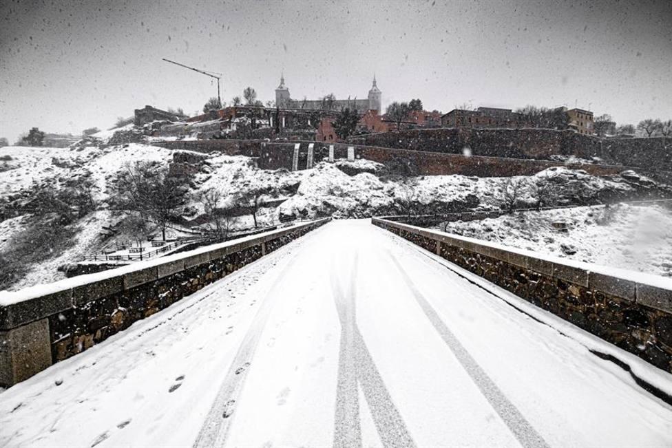Toledo bajo los efectos de Filomena