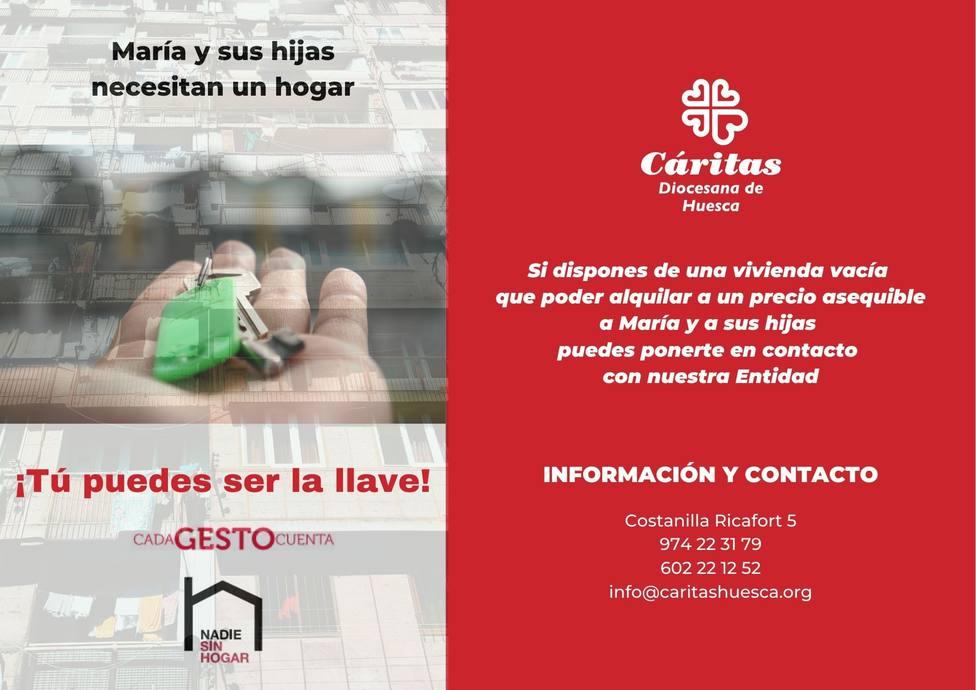 """""""Tú puedes ser la llave"""" nueva campaña de Caritas Huesca"""