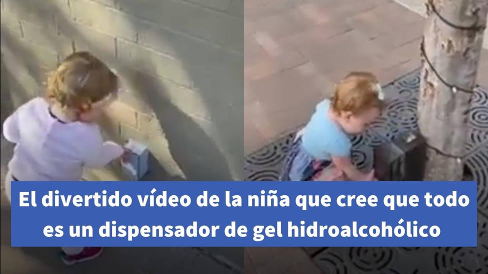 El divertido vídeo de una niña que cree que todo es un dispensador de gel hidroalcohólico