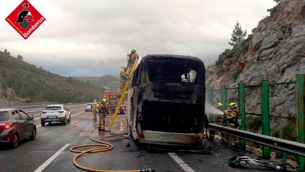 Bombero siniestrado, según una imagen difundida por el Consorcio de Bomberos de Alicante