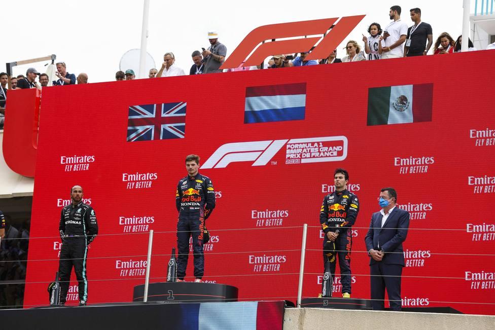 Podio GP Francia 2021