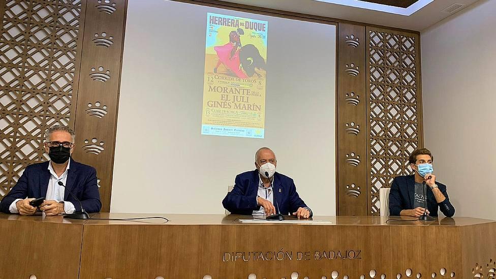 Acto de presentación de la corrida de toros de Herrera del Duque (Badajoz)