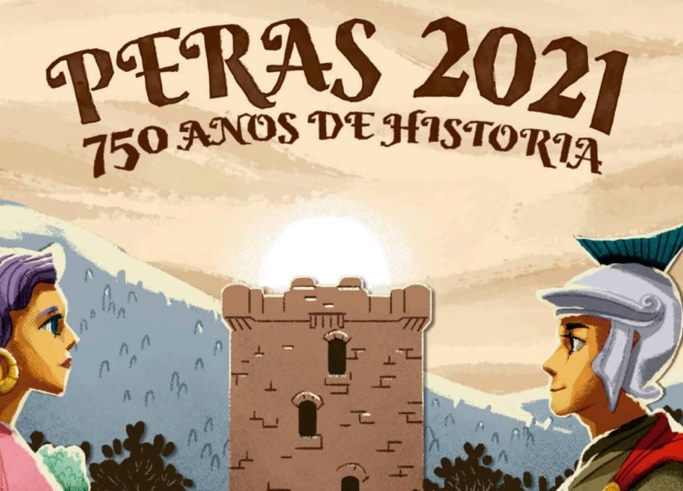Cartel anunciador de las Fiestas de As Peras 2021