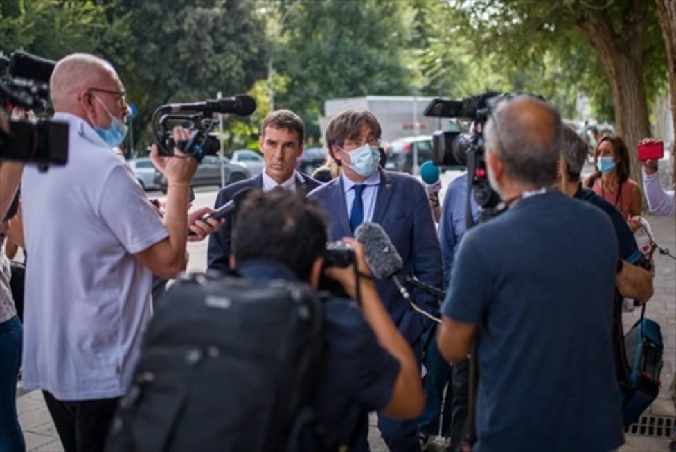 Puigdemont reaparece por primera vez tras salir de la cárcel en Cerdeña (Italia)