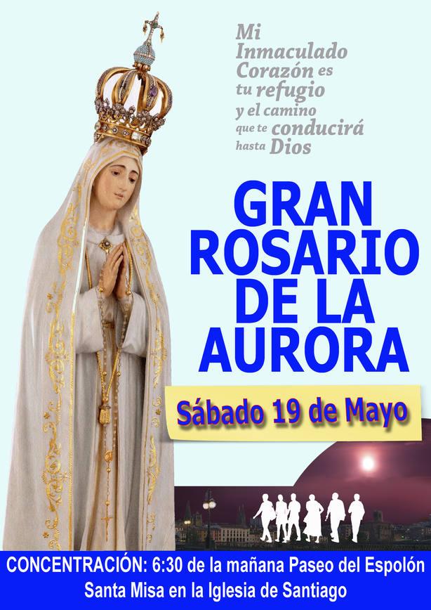 cartel informativo del Rosario de la Aurora