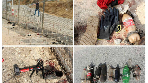 Gran violencia empleada hoy en el último salta de la valla fronteriza de Ceuta