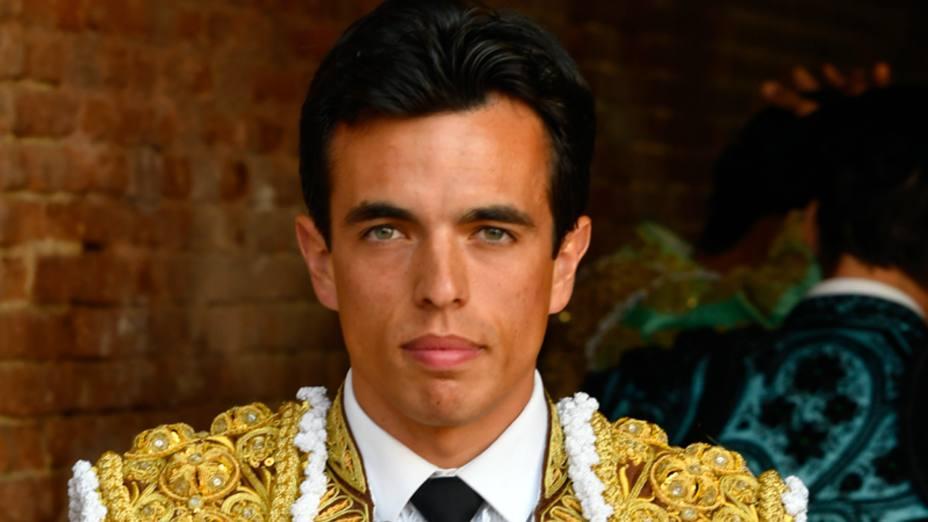 Amor Rodríguez antes del paseíllo en pasado 1 de mayo en la miniferia de la Comunidad en Las Ventas