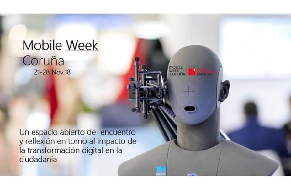 Cartel de la Mobile Week Coruña