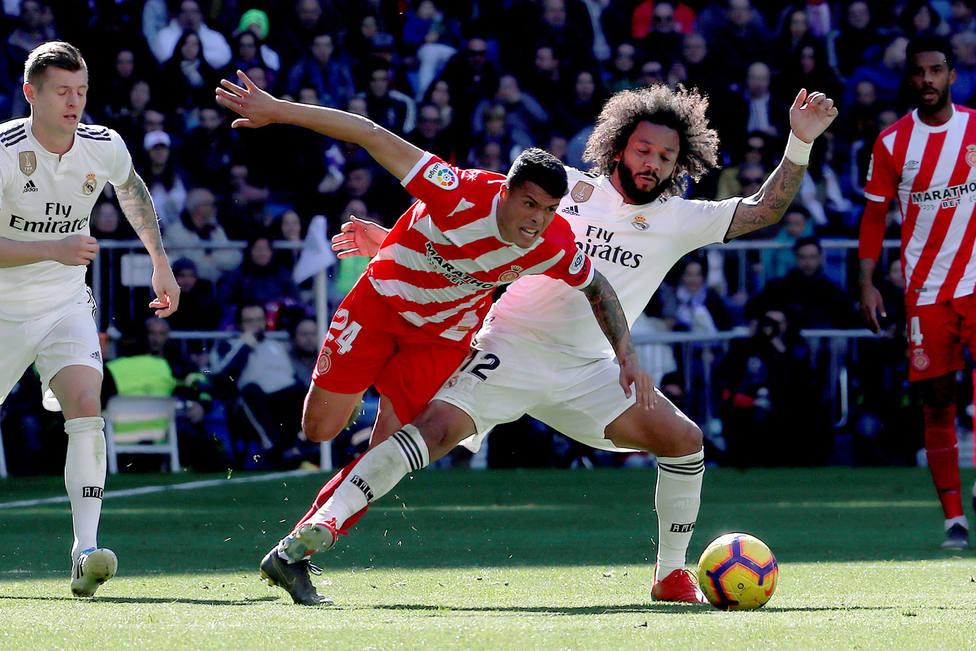 Marcelo, durante el partido contra el Girona del pasado domingo (EFE).