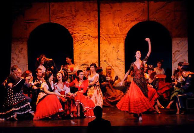 Escena de la ópera Carmen